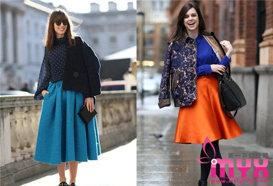半身裙穿成街拍达人 半身裙的时尚搭配小秘密