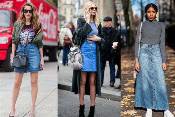 冬季牛仔裙怎么穿 谁说牛仔裙只能夏天穿